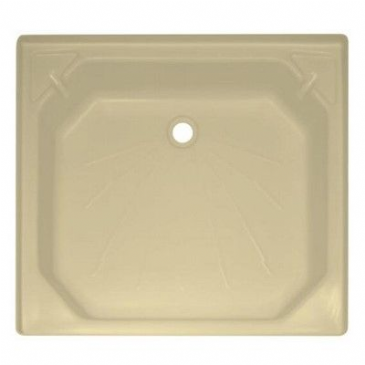 "Caravan/Motorhome PLASTIC SHOWER TRAY 27"" X 27"" SOFT CREAM"